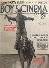 1920 STAR ITEM rookie Jack Dempsey given with Boys Cinema mag